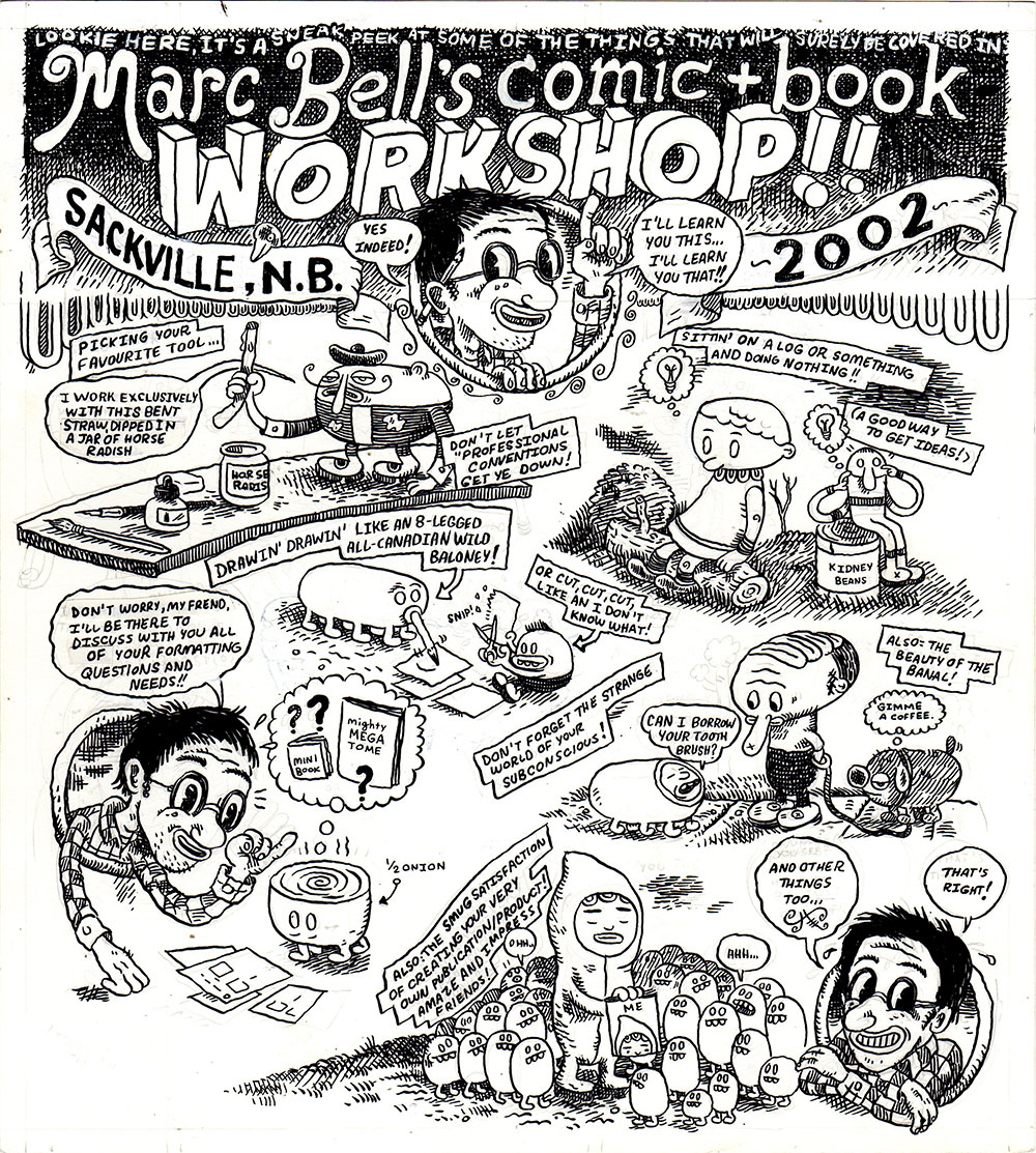 Marc Bell's Comic + Book Workshop!!