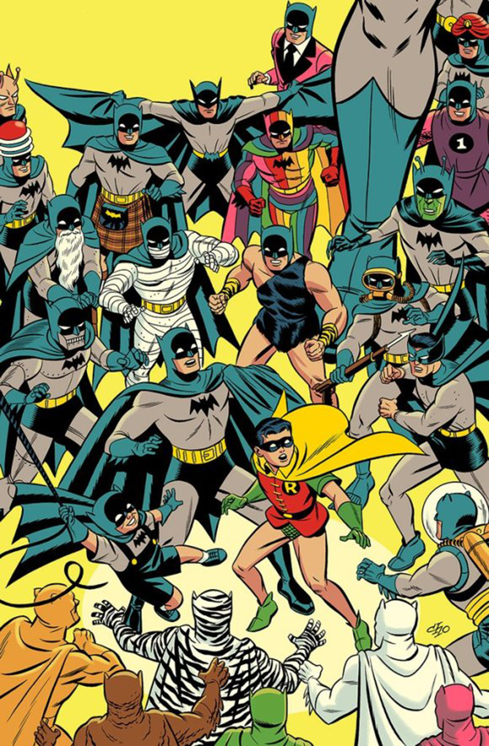 Detective Comics #1000 Yellow Variant Edition Giclee Print