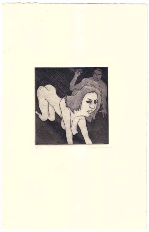 Etching- Women on knees