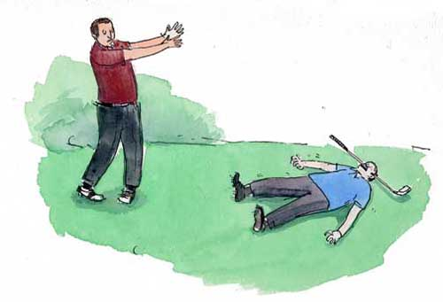 Fore/Golf Accident