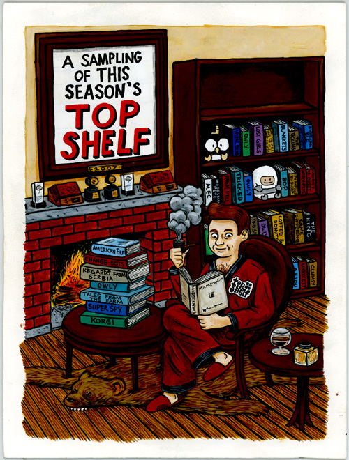 Painted cover from Top Shelf 2007 Seasonal Sampler