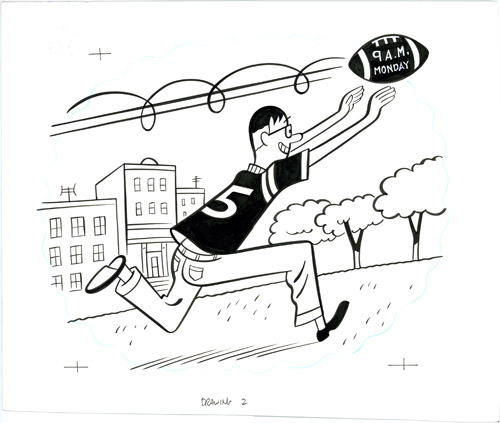 Male Response Drawing 2 Running Catch