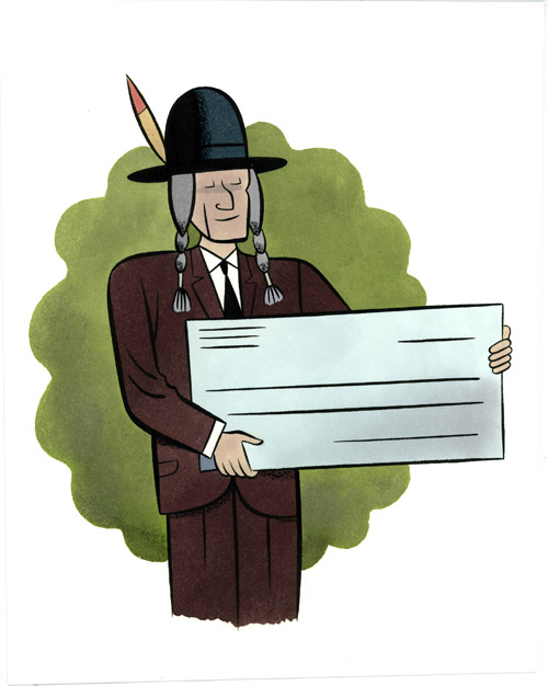 Native with a big Cheque