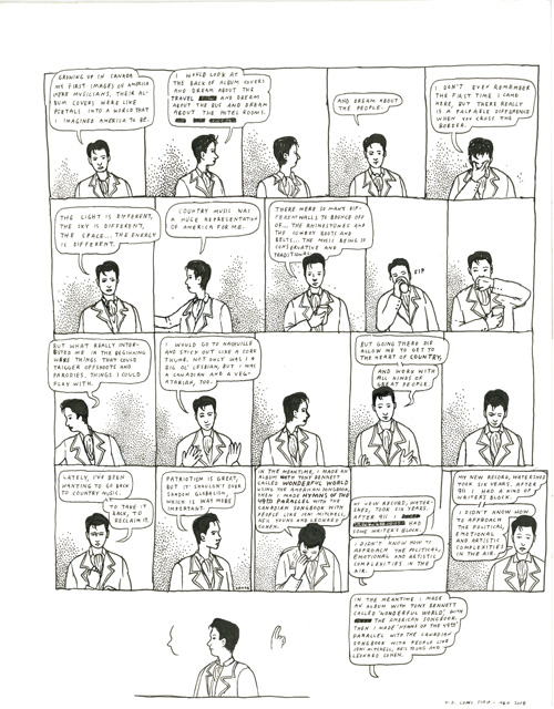 K.D. Lang strip for Interview