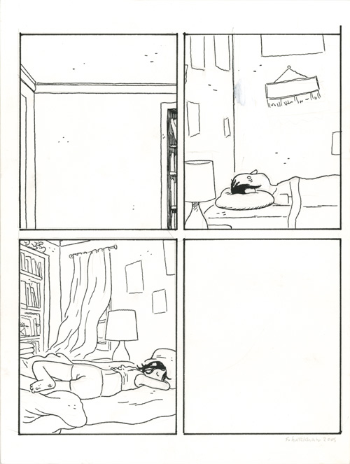 Somersaulting panels Lying in bed