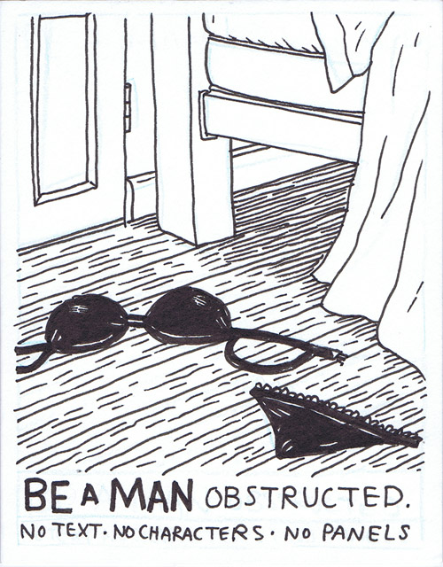 Be a Man - Obstructed - Front Cover