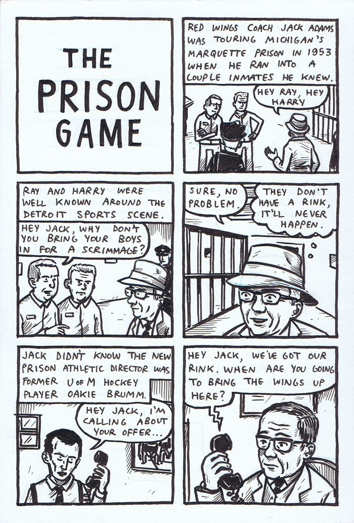 Old Timey Hockey Tales - The Prison Game - page 1