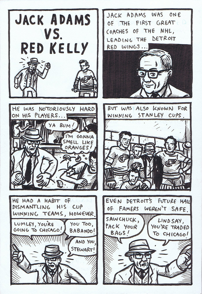 Old Timey Hockey Tales - Jack Adams vs. Red Kelly - page 1