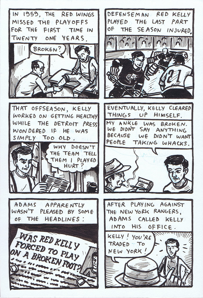 Old Timey Hockey Tales - Jack Adams vs. Red Kelly - page 2