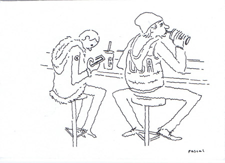 Illustration - Teens at the Food Court