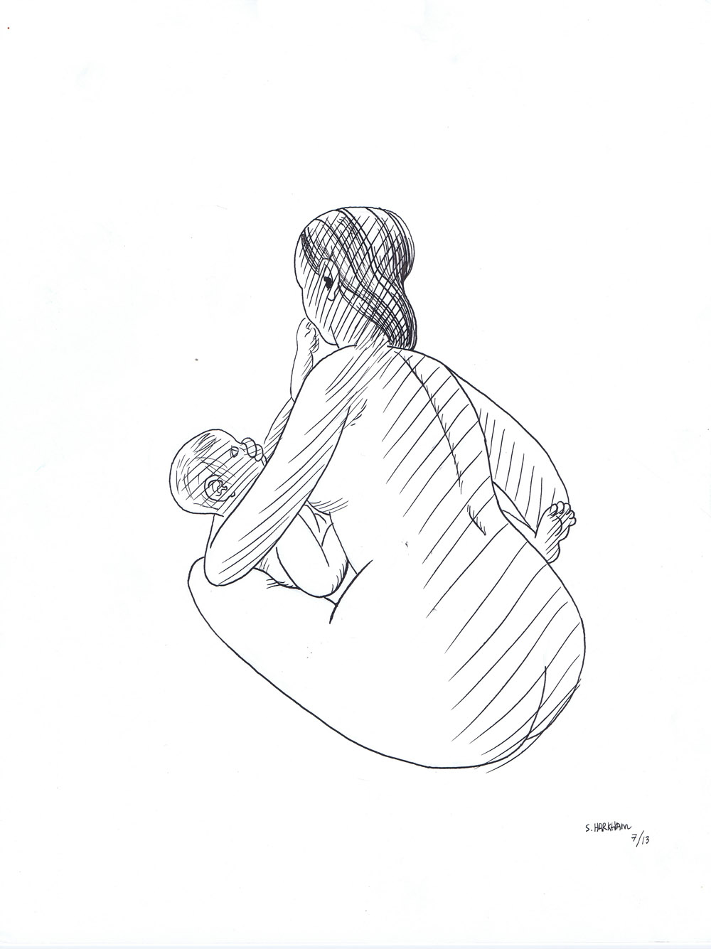Milan Review illustration - Mother & baby