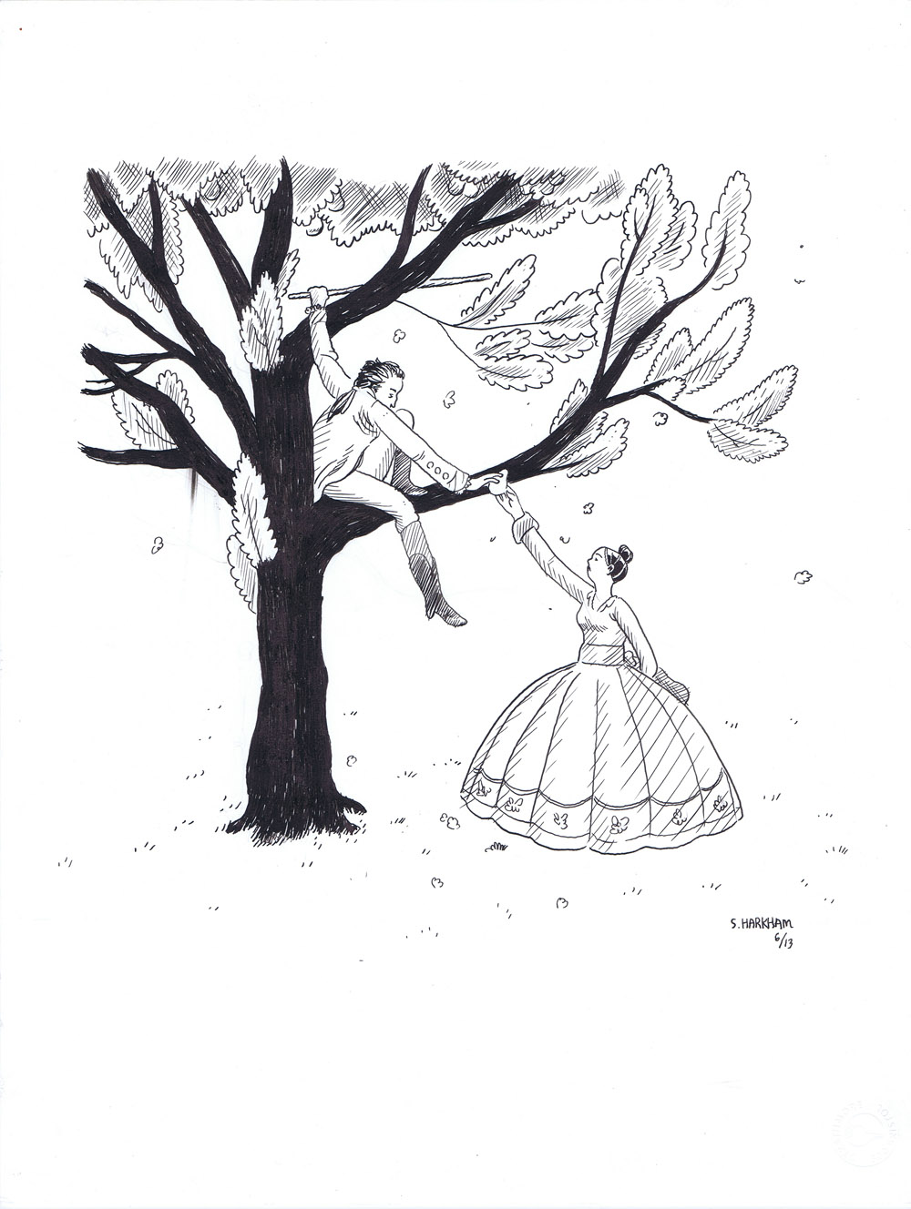 Apology Magazine Illustration - Goethe in the Pear Tree