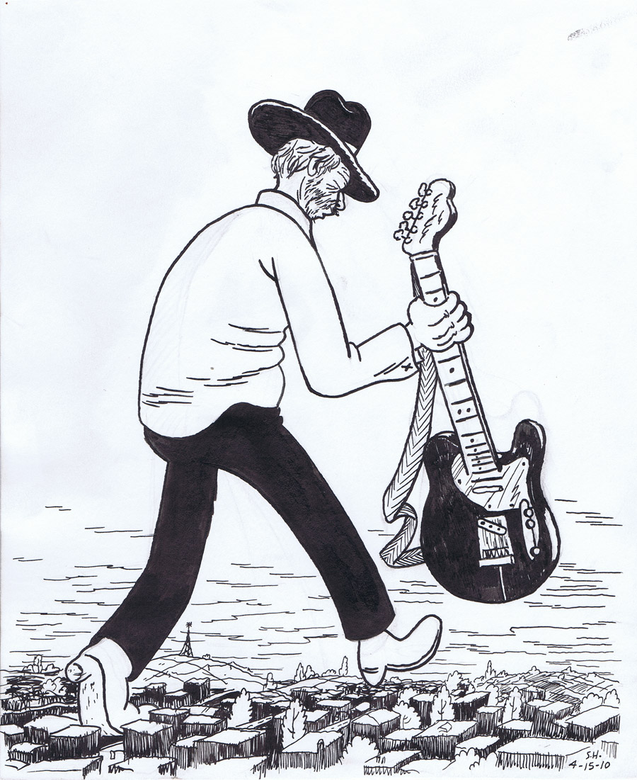 Merle Haggard illustration