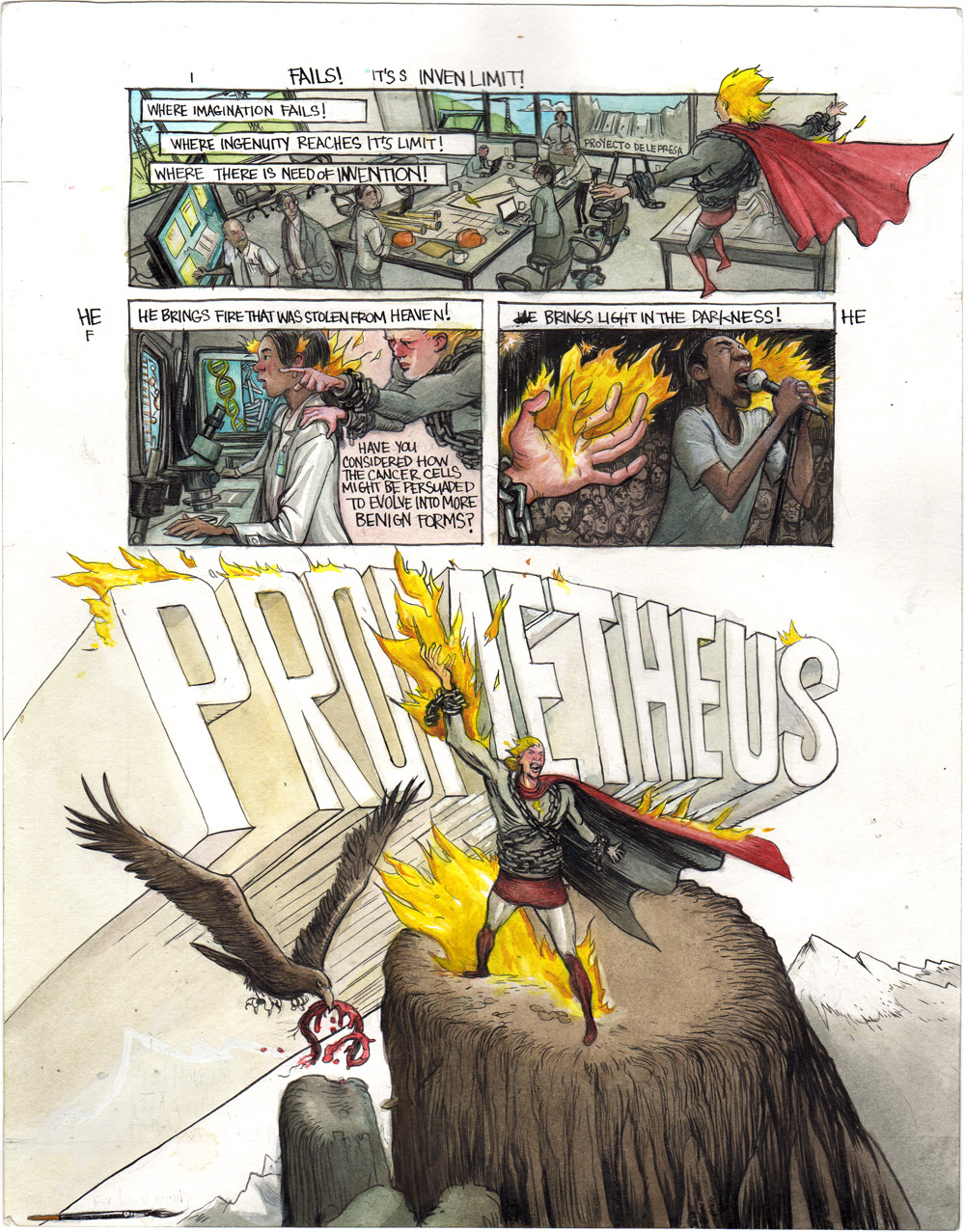 Prometheus - 3 Page Set - w Grant Morrison