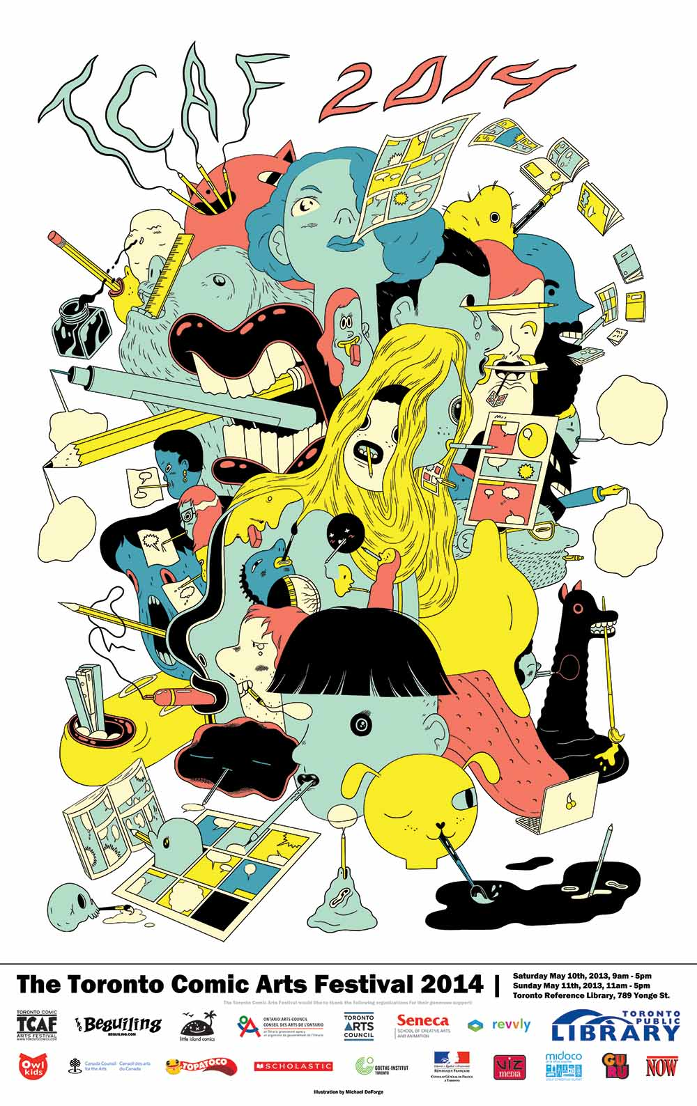 TCAF 2014 Poster (Michael DeForge)